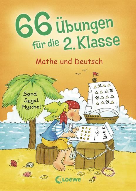 66 u00dcbungen fu00fcr die 2. Klasse: Mathe und Deutsch : 978-3-7855-7325-9 : Loewe Verlag